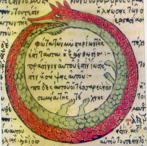 1478 drawing by Theodoros Pelecanos of an alchemical tract attributed to Synesius